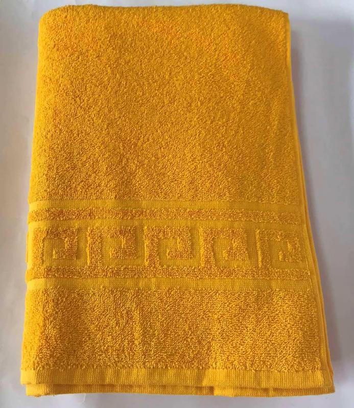 Полотенце махровое 70х140 см 400 г/м2 Желтый - фото 1