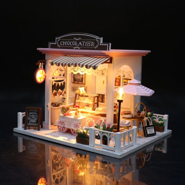 3D Румбокс CuteBee DIY DollHouse Шоколадниця (V358SD) - фото 6