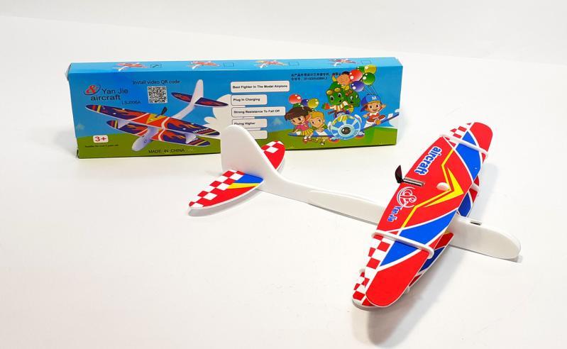 Літак з моторчиком Yan Jie Aircraft Біплан планер метальний - фото 1