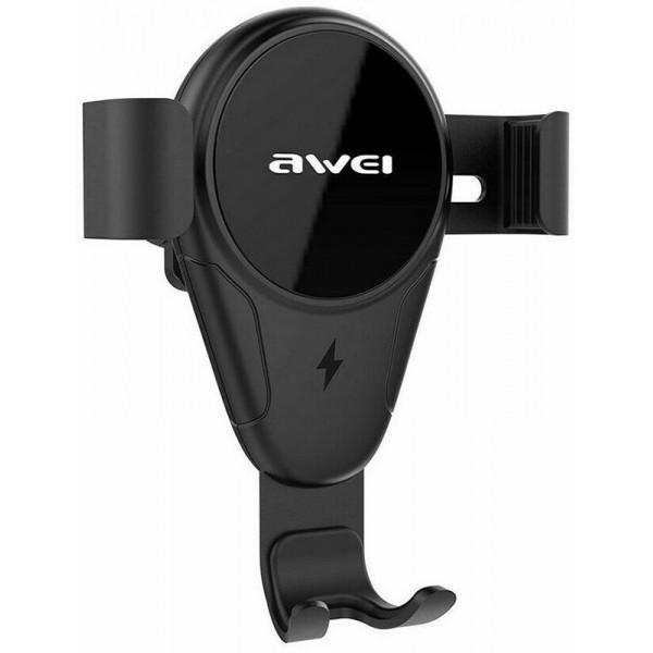 Тримач Awei CW3 Wireless Car Holder Black (F_109292) - фото 1