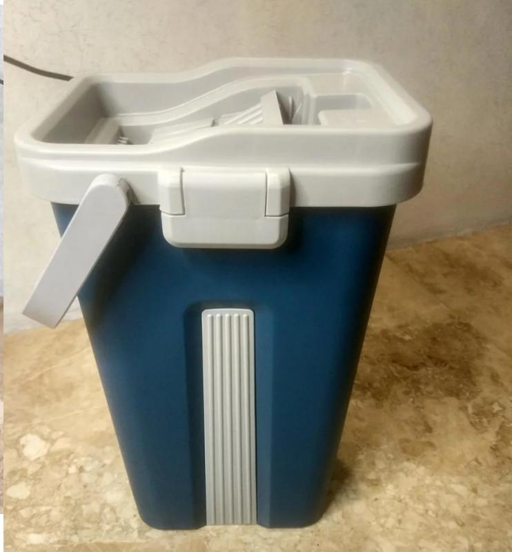 Швабра і відро з автовіджимом Scratch Cleaning Mop Original Синій - фото 5