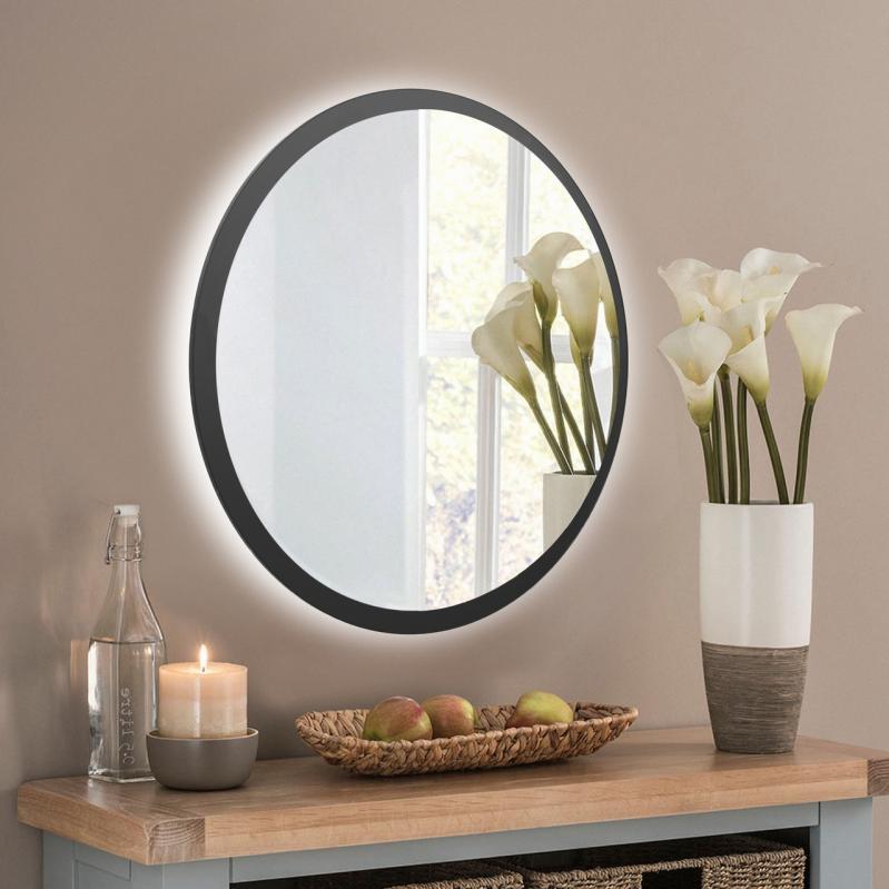 Зеркало настенное с LED подсветкой Art-Com 600 мм Черный (ZL3) - фото 1