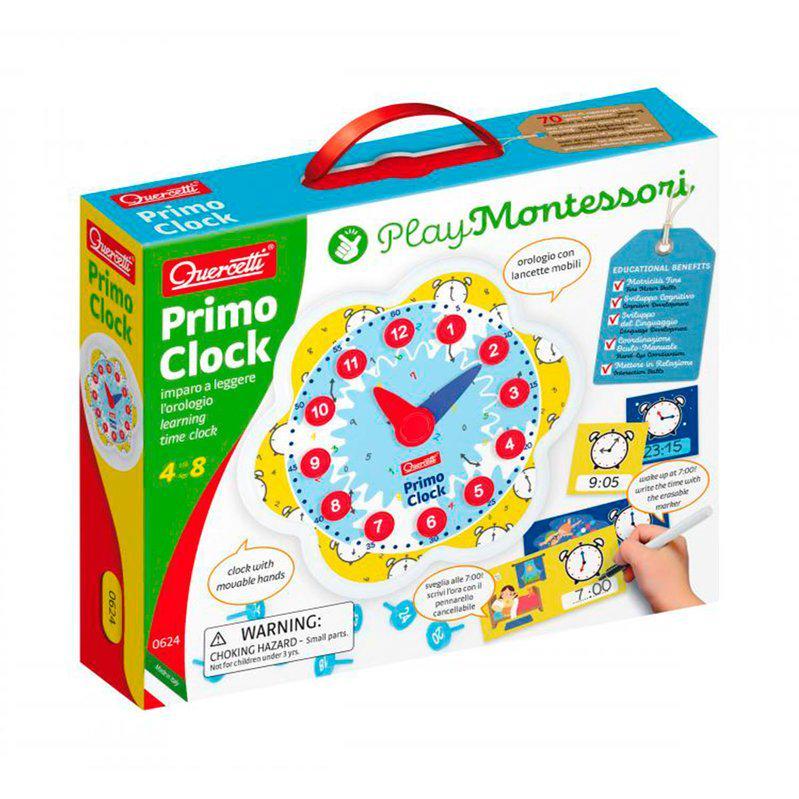 Навчальний ігровий набір Quercetti серії Play Montessori Перший годинник - фото 1