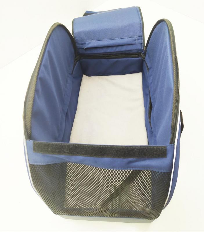 Сумка-переноска для тварин Гармонія 250х500х350 мм Синьо-сірий - фото 2
