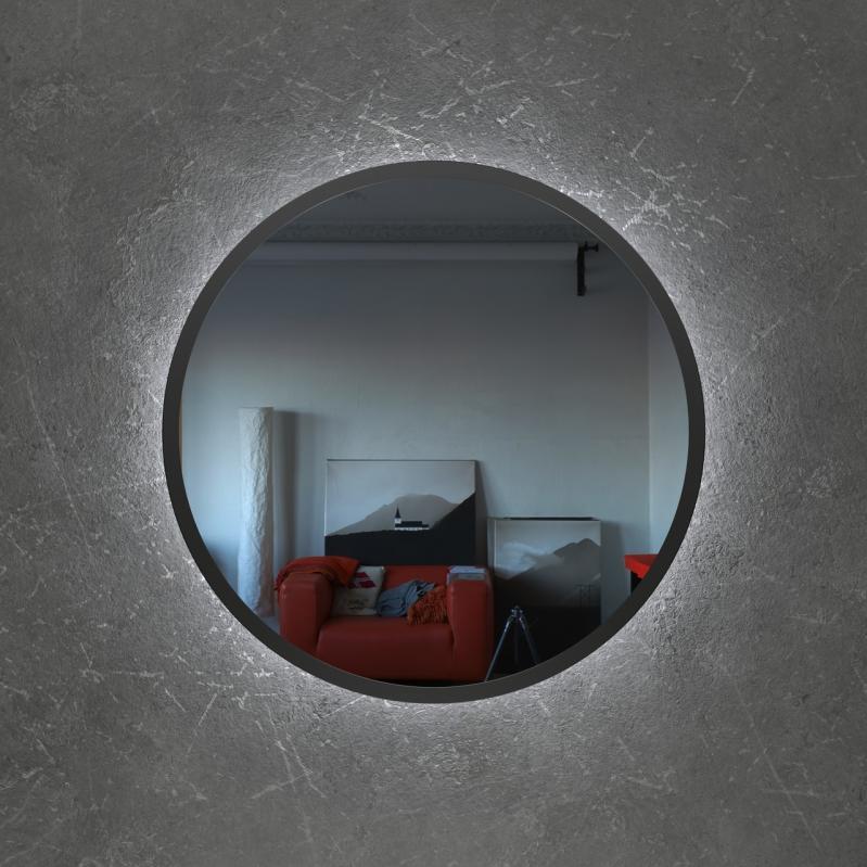 Зеркало настенное с LED подсветкой Art-Com 600 мм Черный (ZL3) - фото 2