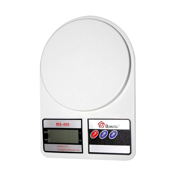 Кухонные весы Domotec Ms-400 до 10 кг с батарейками (bks_00791) - фото 1