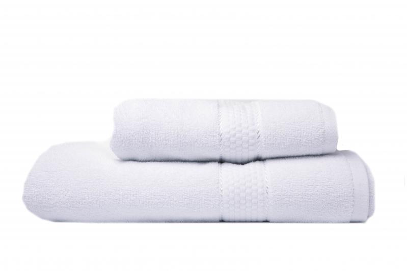 Комплект белых полотенец 2шт. (50х90 см/70х140 см) - фото 1