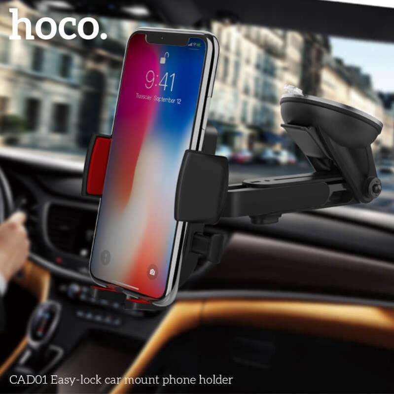 Автомобільний тримач HOCO CAD01 для телефону Чорний - фото 6