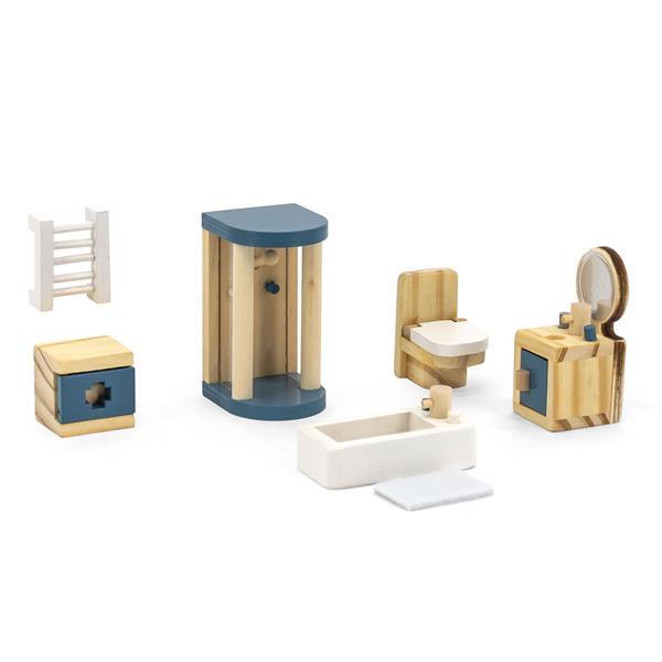Дерев'яні меблі для ляльок Viga Toys PolarB Ванна кімната (44039) - фото 1