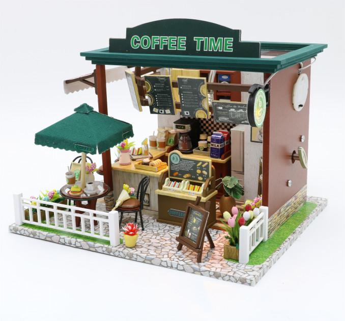 3D Румбокс CuteBee Coffee Time DIY DollHouse Кафе (V356SD) - фото 1