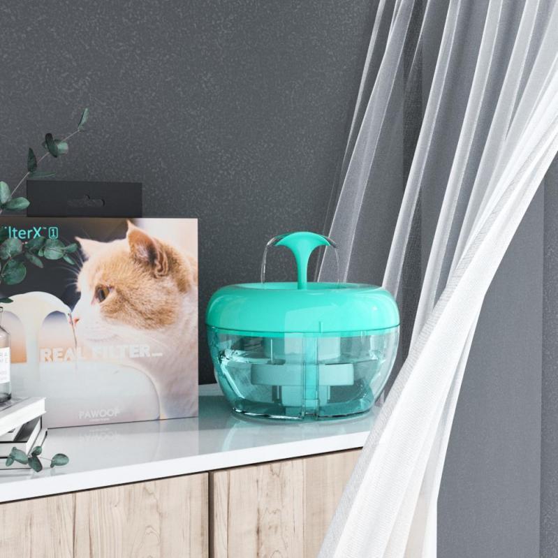 Автоматична поїлка-фонтан для кішок Pawoof X1 Зелений - фото 10