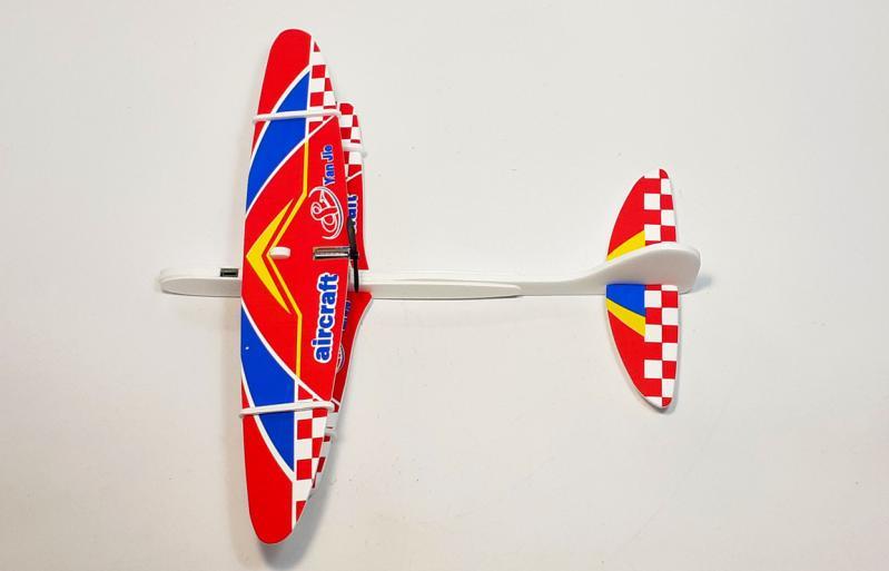 Літак з моторчиком Yan Jie Aircraft Біплан планер метальний - фото 7