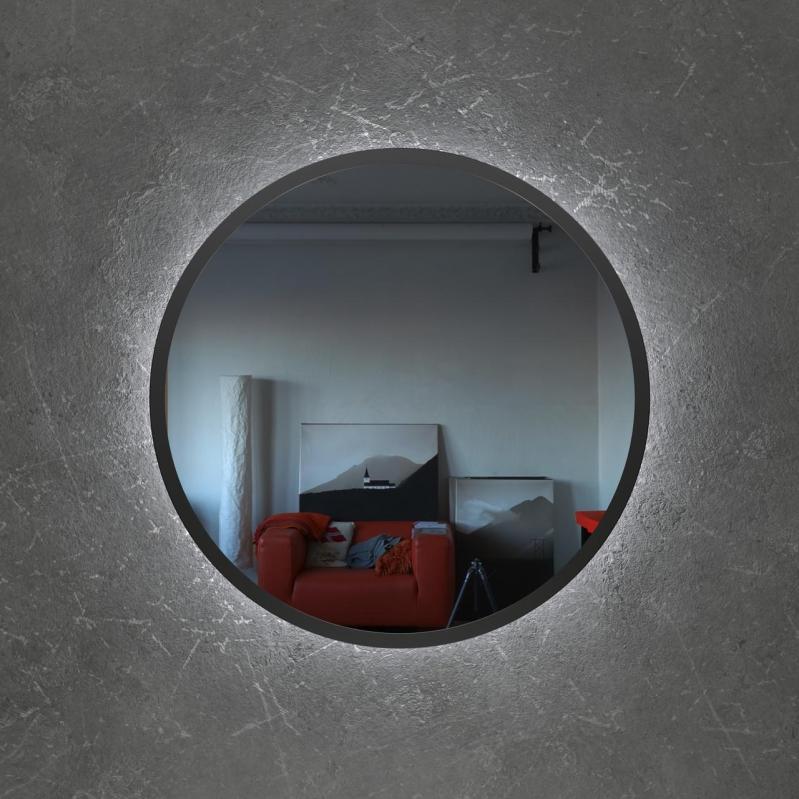 Круглое зеркало с Led подсветкой Art-Com 1000 мм Черный (ZL 2) - фото 2