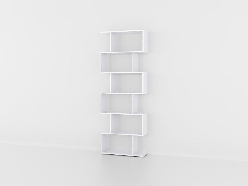 Книжная полка Fanera Studio 192х70х23 Белый - фото 1