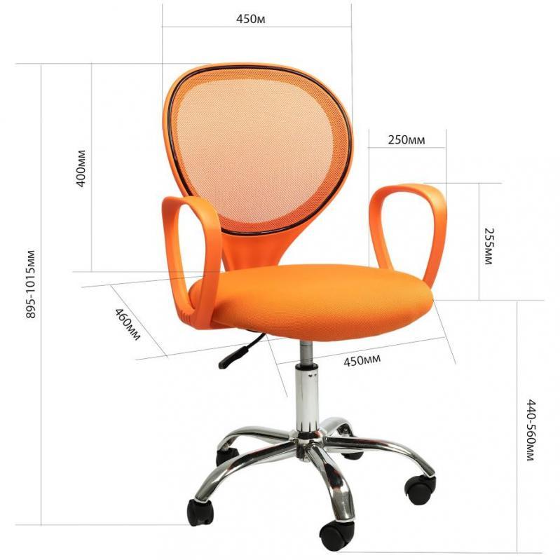 Офисное кресло Sector Helios Оранжевый (KR03) - фото 7