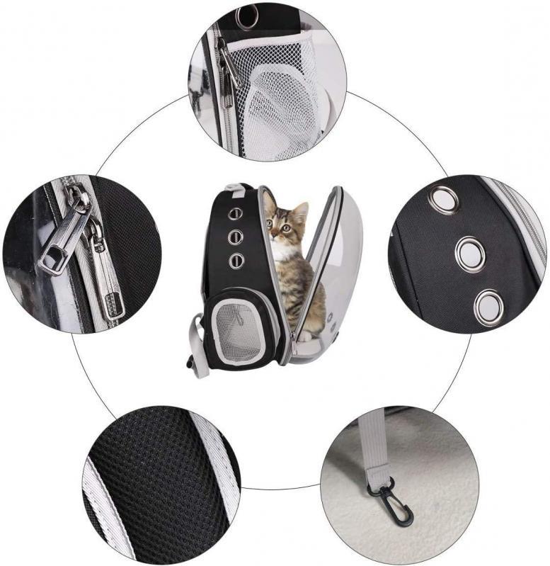Рюкзак прозорий Lollimeow для перенесення домашніх тварин (DY-SN045) - фото 7