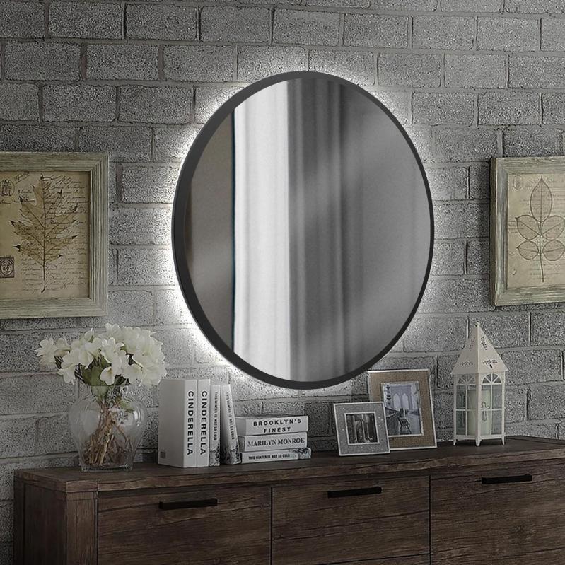 Круглое зеркало с Led подсветкой Art-Com 1000 мм Черный (ZL 2) - фото 3