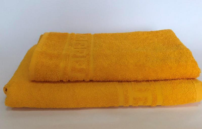 Полотенце махровое 70х140 см 400 г/м2 Желтый - фото 2
