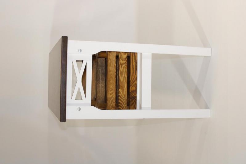 Консольный столик Древоделя Прованс 3 77х105х40 см Белая эмаль/Орех (60624) - фото 5