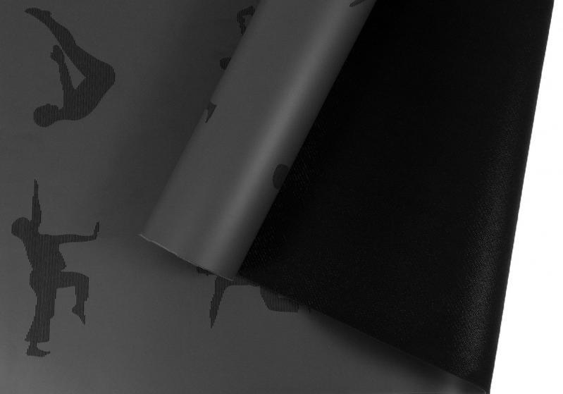 Килимок для йоги EasyFit каучук 5 мм Чорний (EF-RB5BK) - фото 2