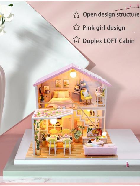 3D Румбокс CuteBee Sweet Time DIY DollHouse (M2001) - фото 4