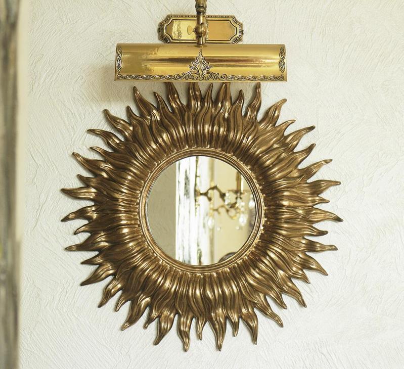 Зеркало настенное Гранд Презент Солнце 55 см Золотой (НД953) - фото 1