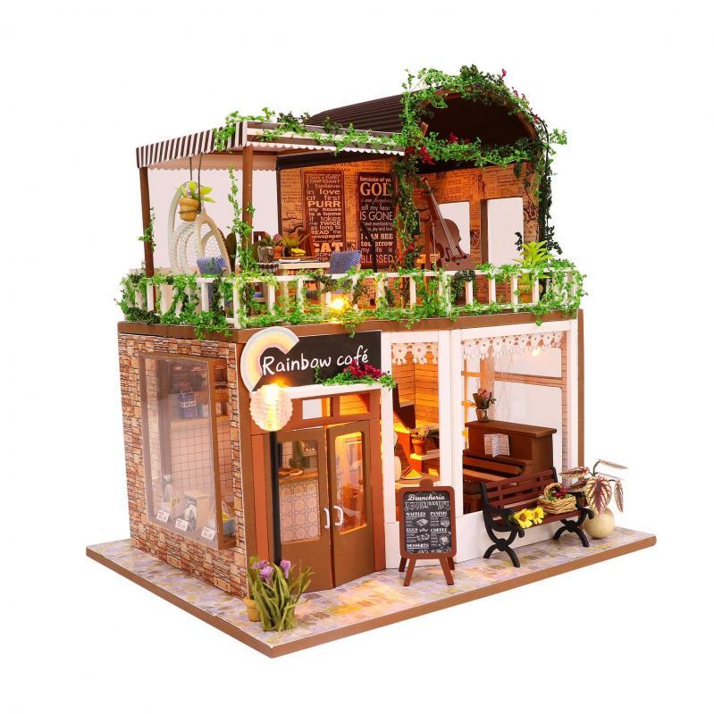 3D Румбокс CuteBee DIY DollHouse Радужне кафе (M92) - фото 1
