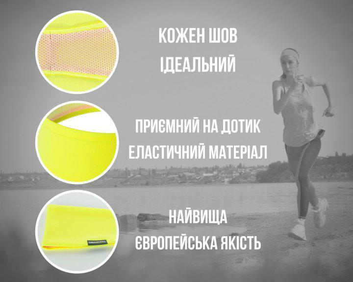 Набор спортивных повязок OSIAZHNYI 2 шт. Синий/Желтый - фото 5