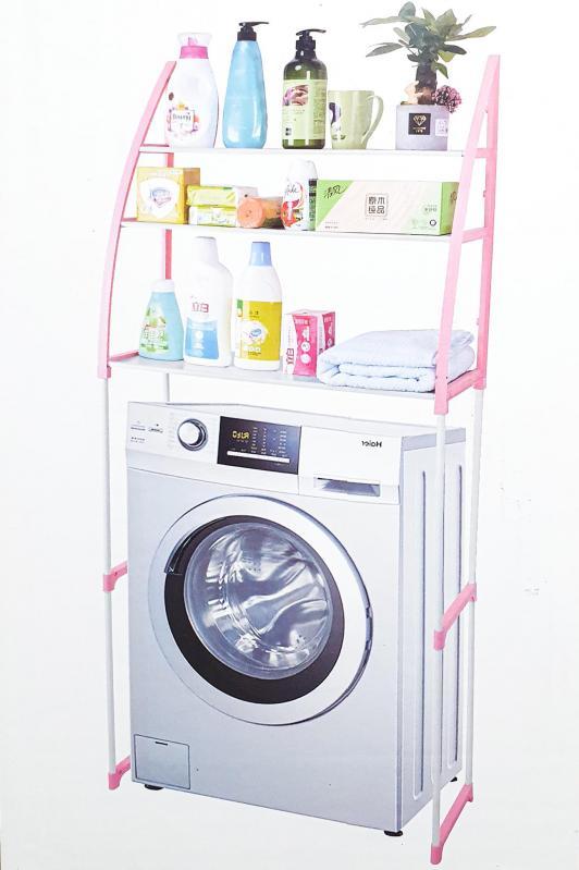 Стелаж підлоговий UKC WM-63 над пральною машиною 68х152 см Білий (9cea9cea) - фото 3