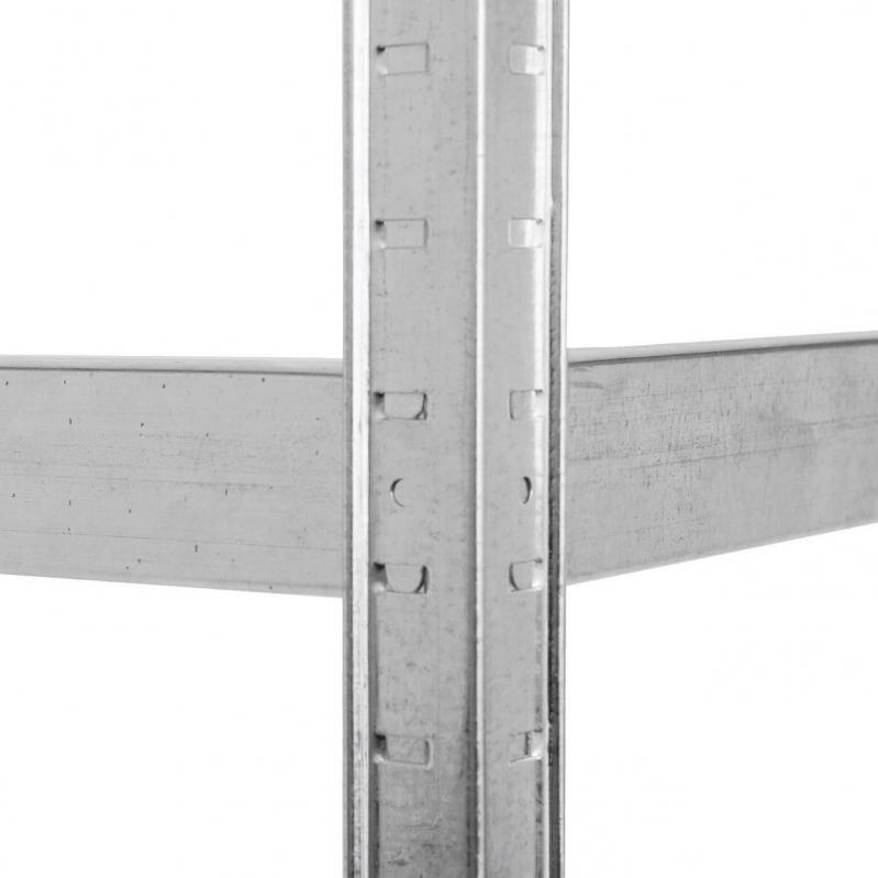 Стелаж металевий Меткас Бюджет 1800x700x300 мм 175 кг/полку ДСП (БД-4) - фото 4