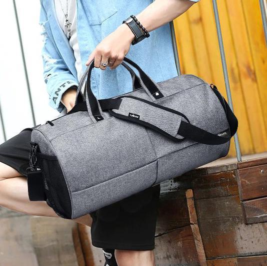 Спортивна сумка TuGuan 1698 з відділом для взуття Сірий - фото 8