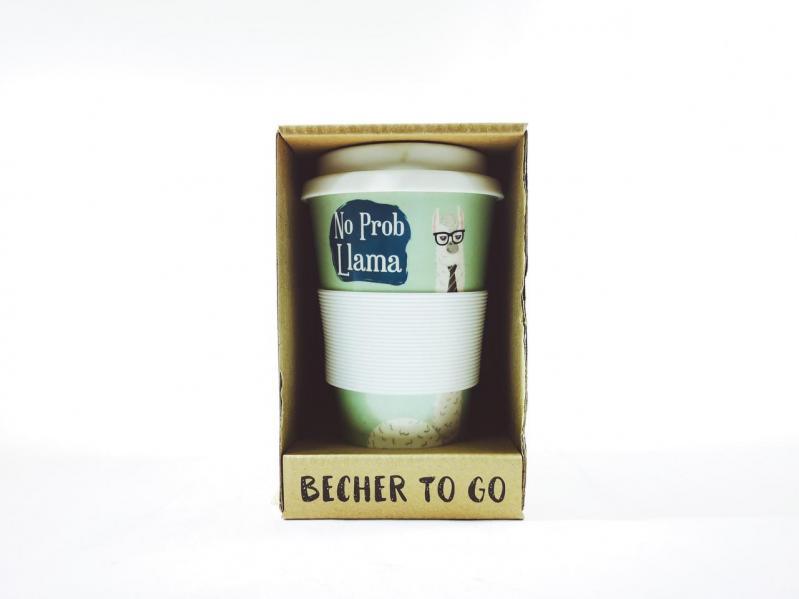 Кофейная кружка to go becher bambus No ProblLama 350 мл - фото 2