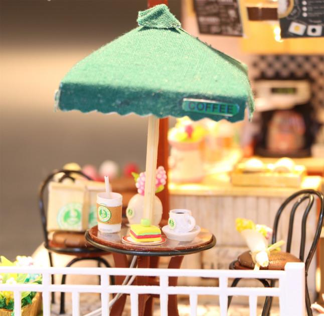 3D Румбокс CuteBee Coffee Time DIY DollHouse Кафе (V356SD) - фото 7