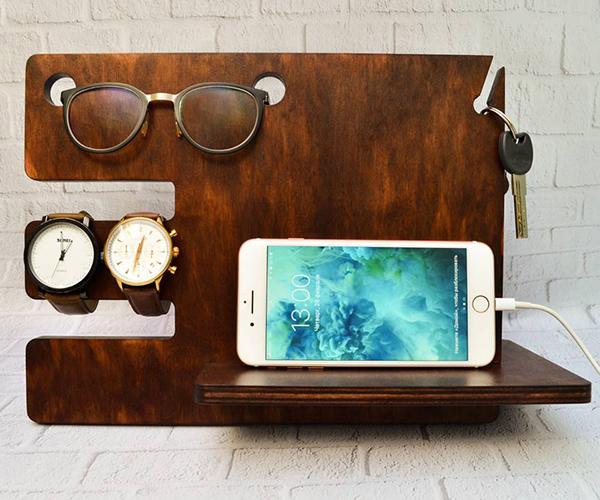 Органайзер дерев'яний БРТ для телефону та сучасних дрібниць - фото 1