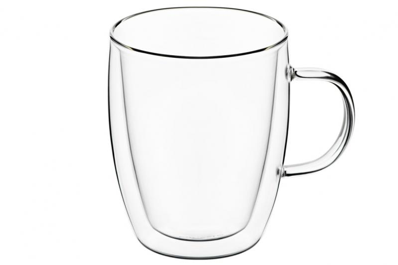 Набор чашек для латте с двойными стенками Ardesto 270 мл 2 шт. (AR2627G) - фото 1