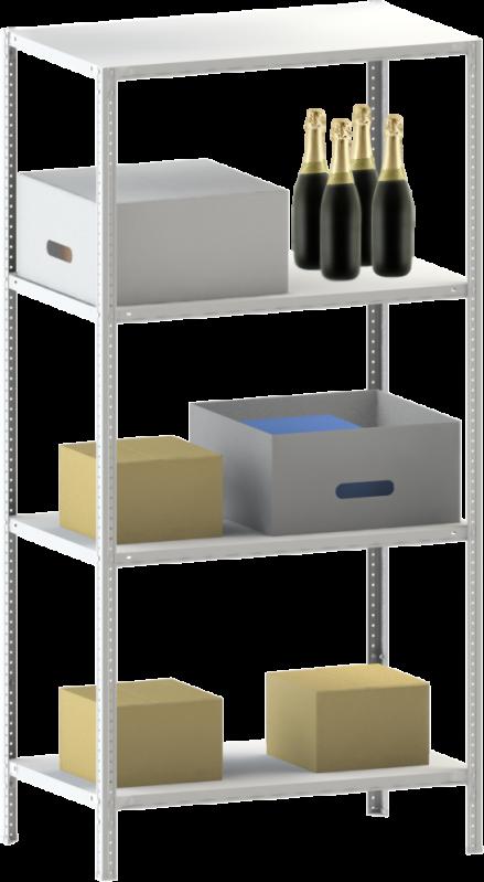 Стелаж металевий 4х150 кг/п 2500х1200х500 мм на болтовому з'єднанні - фото 1