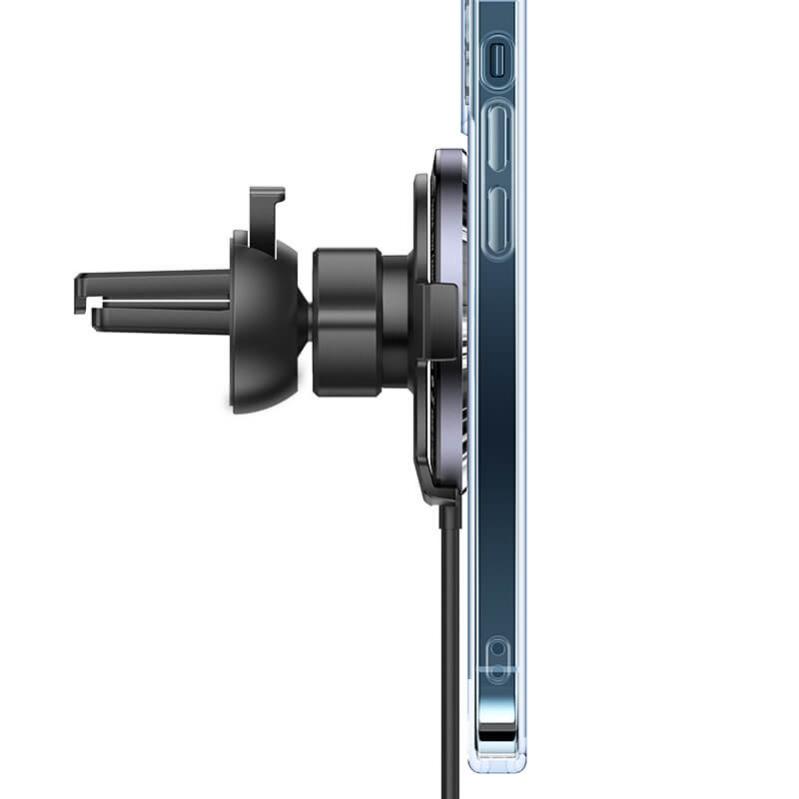 Автомобільний магнітний тримач USAMS CD164  15W 3A  з бездротовою зарядкою QI - фото 6
