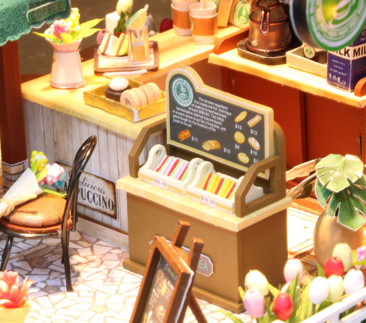 3D Румбокс CuteBee Coffee Time DIY DollHouse Кафе (V356SD) - фото 5