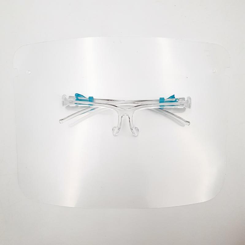 Защитный щиток для лица Face Shield Glasses со сложными скобками 165х195 мм Прозрачный 5 шт - фото 11