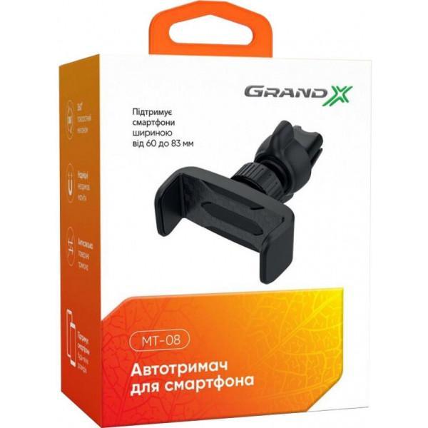 Тримач Grand-X Автотримач для смартфона Grand-X (кріплення на дефлектор) MT-08 - фото 6