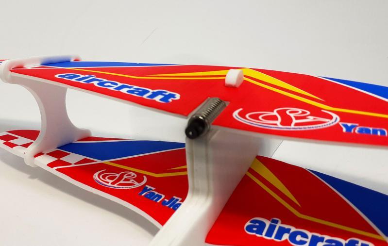 Літак з моторчиком Yan Jie Aircraft Біплан планер метальний - фото 10