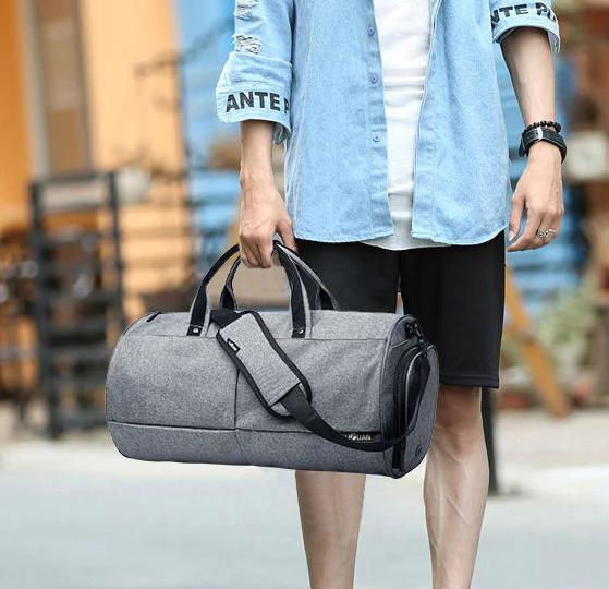 Спортивна сумка TuGuan 1698 з відділом для взуття Сірий - фото 7