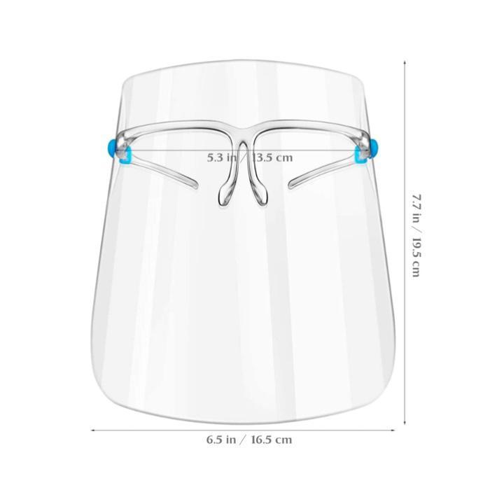 Защитный щиток для лица Face Shield Glasses со сложными скобками 165х195 мм Прозрачный 5 шт - фото 1