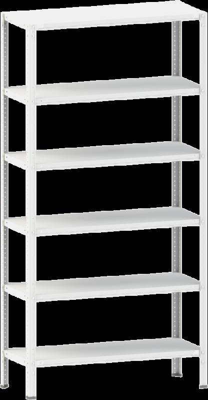 Стеллаж металлический 6х100 кг/п 2500х700х400 мм на болтовом соединении - фото 1