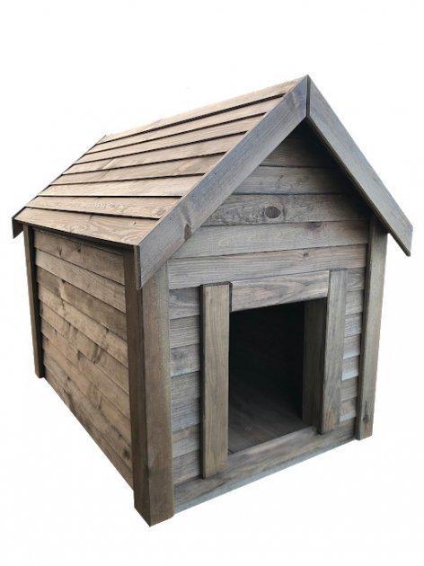 Будка для собаки DogHouse Palisandr дерев'яна утеплена (01-001) - фото 1