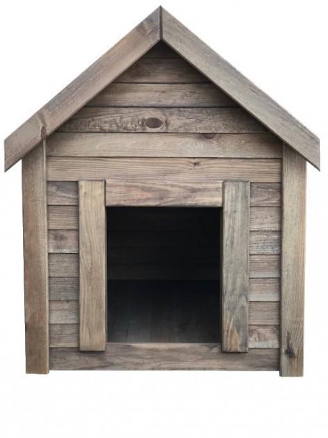 Будка для собаки DogHouse Palisandr дерев'яна утеплена середня (01-002) - фото 2