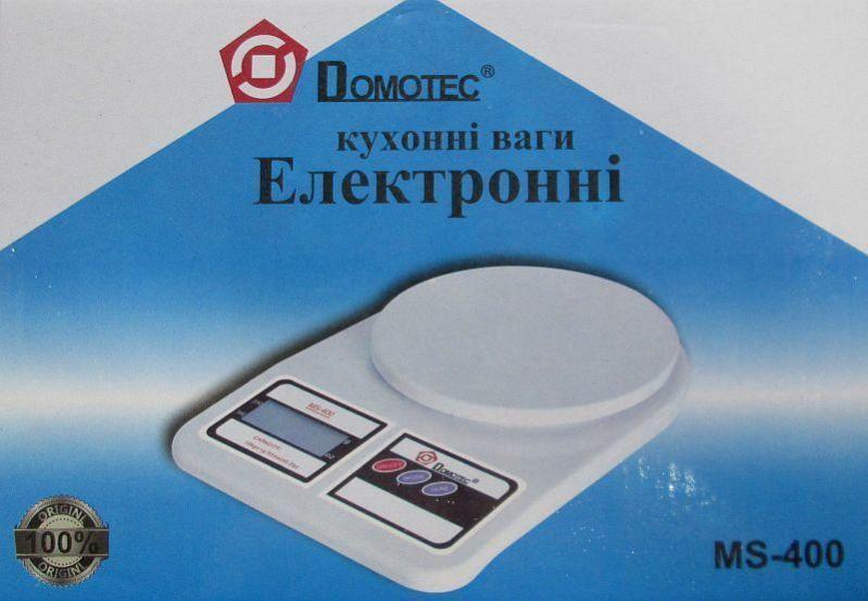 Кухонные весы Domotec Ms-400 до 10 кг с батарейками (bks_00791) - фото 3