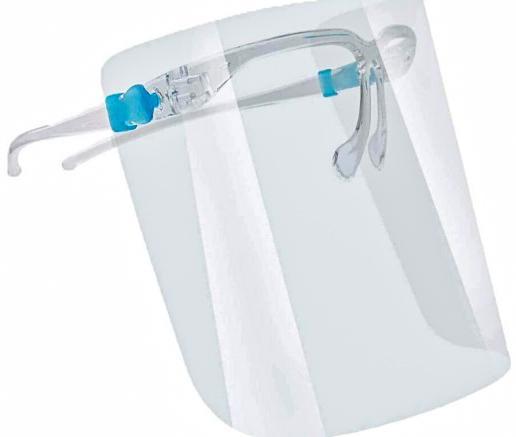 Защитный щиток для лица Face Shield Glasses со сложными скобками 165х195 мм Прозрачный - фото 2