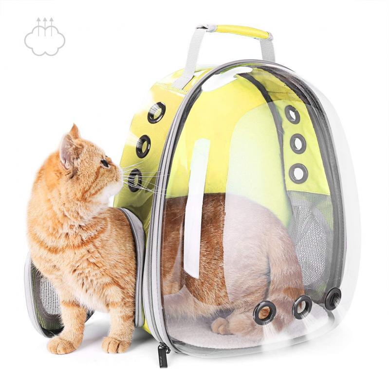 Рюкзак прозорий Lollimeow для перенесення домашніх тварин (DY-SN044) - фото 3