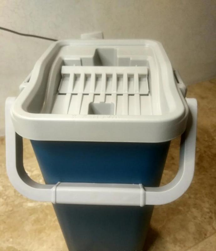 Швабра і відро з автовіджимом Scratch Cleaning Mop Original Синій - фото 4